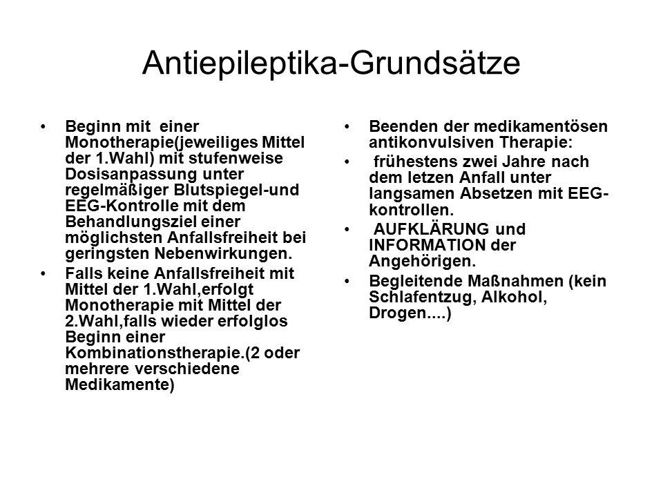 Antiepileptika-Grundsätze