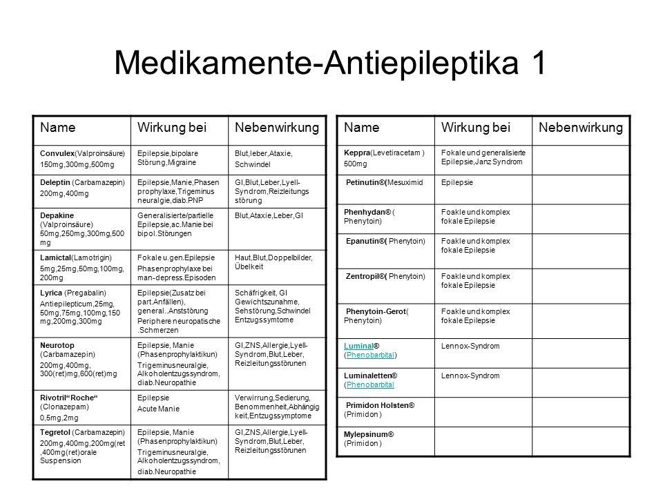 Medikamente-Antiepileptika 1