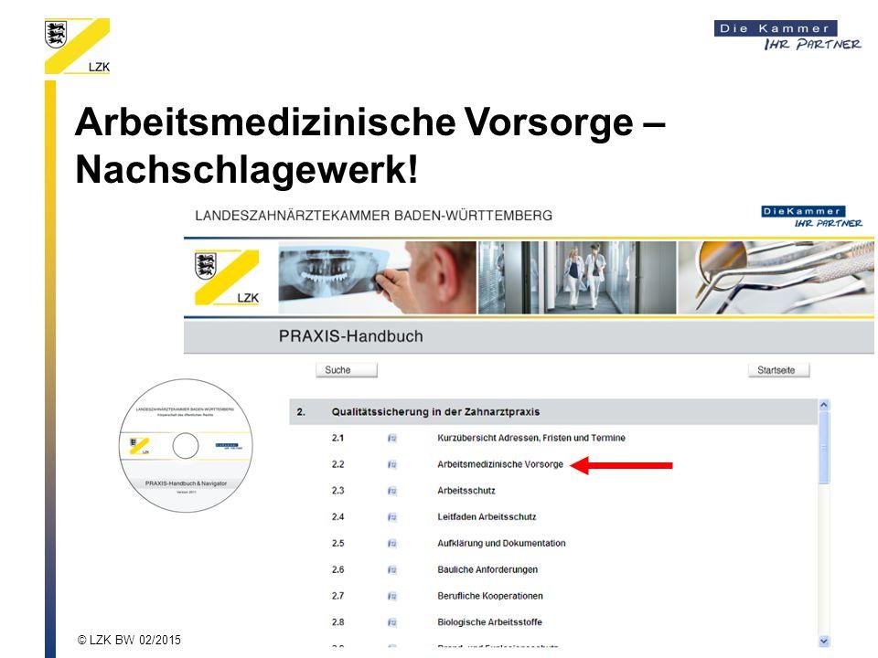 Arbeitsmedizinische Vorsorge – Nachschlagewerk!