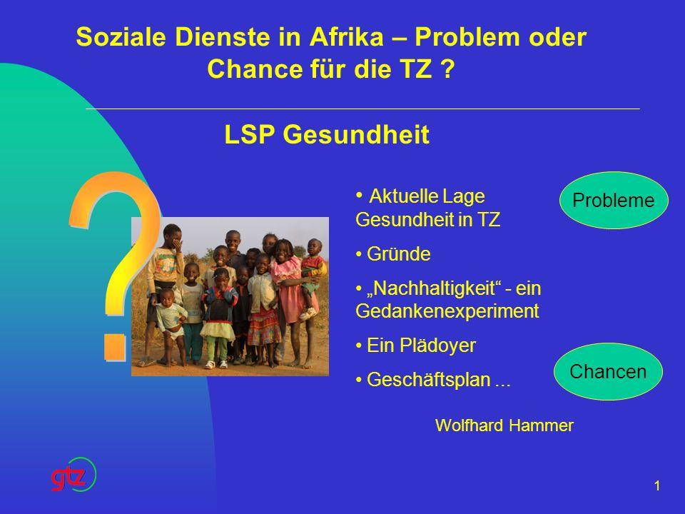 Soziale Dienste in Afrika – Problem oder Chance für die TZ