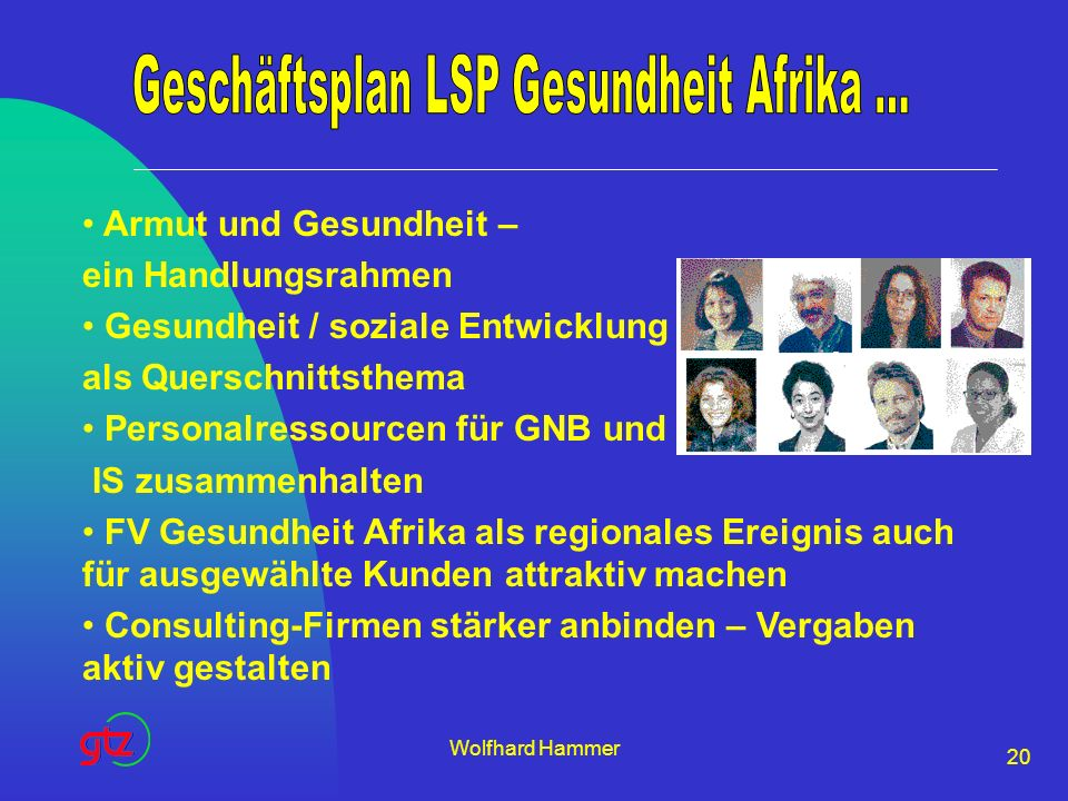 Geschäftsplan LSP Gesundheit Afrika ...