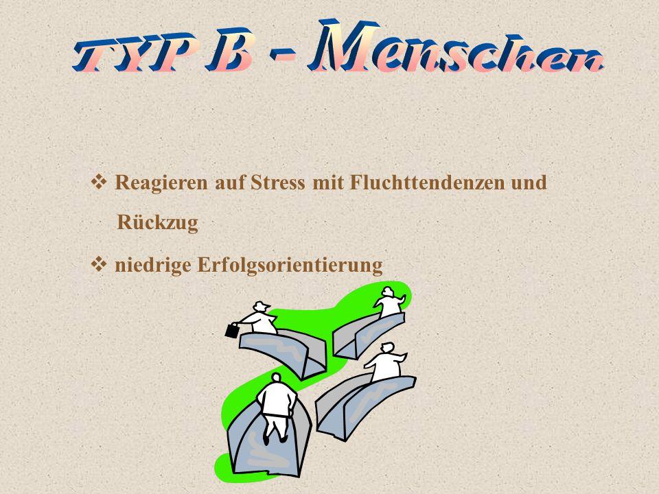 TYP B - Menschen Reagieren auf Stress mit Fluchttendenzen und Rückzug