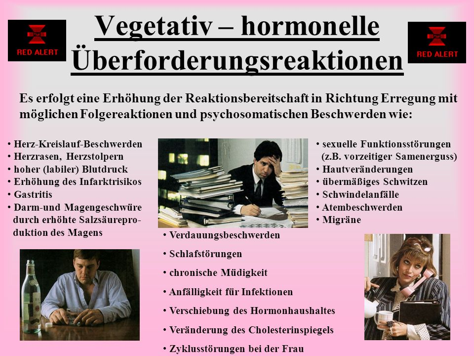 Vegetativ – hormonelle Überforderungsreaktionen