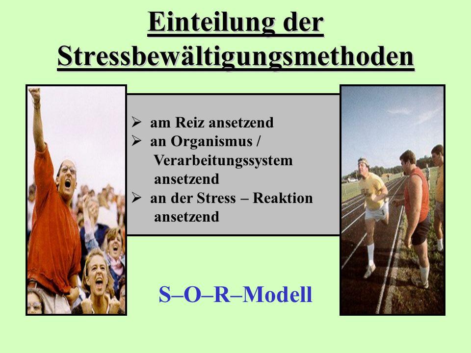 Einteilung der Stressbewältigungsmethoden