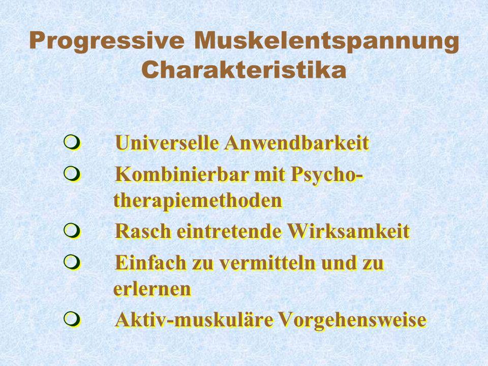 Progressive Muskelentspannung Charakteristika