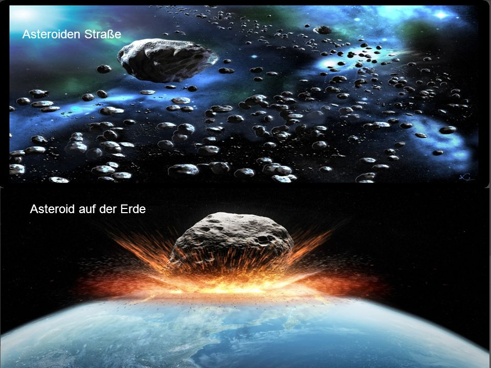 Asteroiden Straße Asteroid auf der Erde