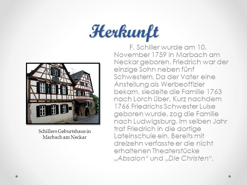 Schillers Geburtshaus in Marbach am Neckar