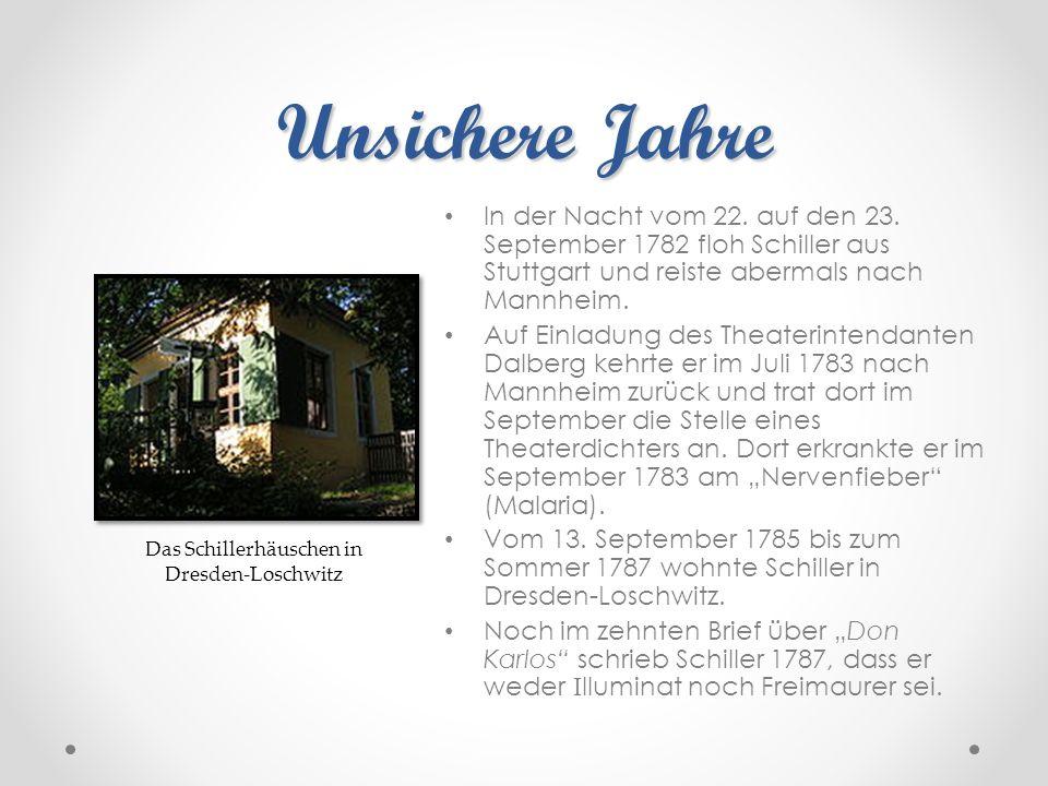 Das Schillerhäuschen in Dresden-Loschwitz