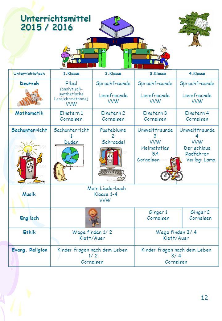 Unterrichtsmittel 2015 / 2016 Deutsch Fibel VVW Sprachfreunde