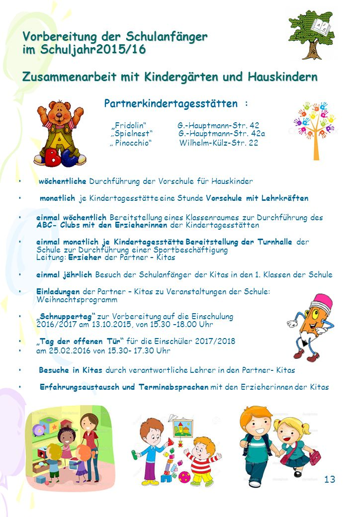Partnerkindertagesstätten :