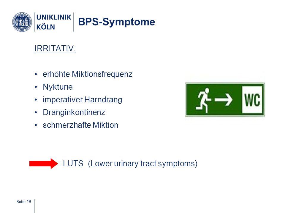 BPS-Symptome IRRITATIV: erhöhte Miktionsfrequenz Nykturie