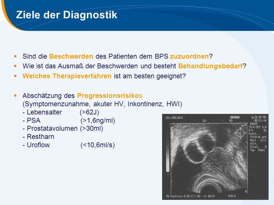 Ziele der Diagnostik Sind die Beschwerden des Patienten dem BPS zuzuordnen Wie ist das Ausmaß der Beschwerden und besteht Behandlungsbedarf