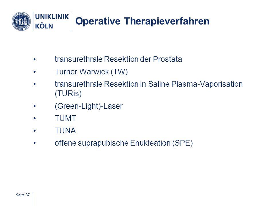 Operative Therapieverfahren