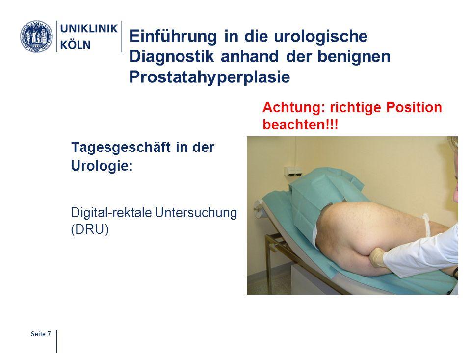 Einführung in die urologische Diagnostik anhand der benignen Prostatahyperplasie