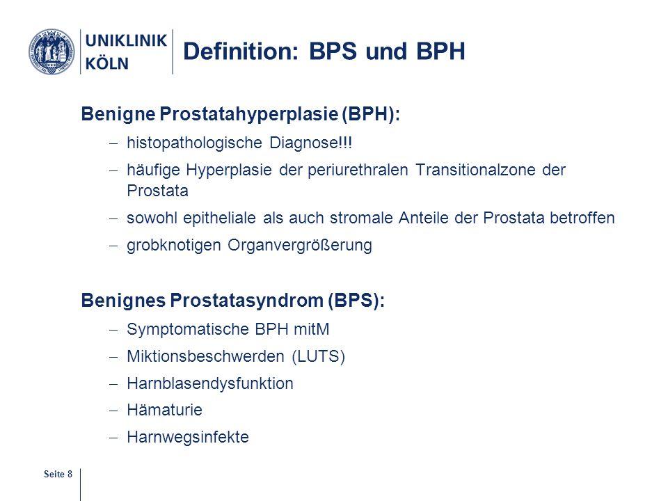 Definition: BPS und BPH
