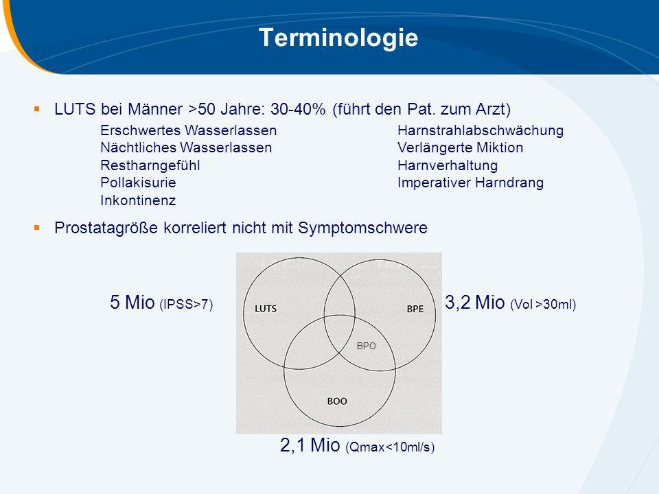 Terminologie 5 Mio (IPSS>7) 3,2 Mio (Vol >30ml)