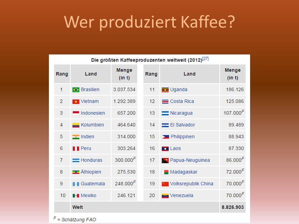 Wer produziert Kaffee