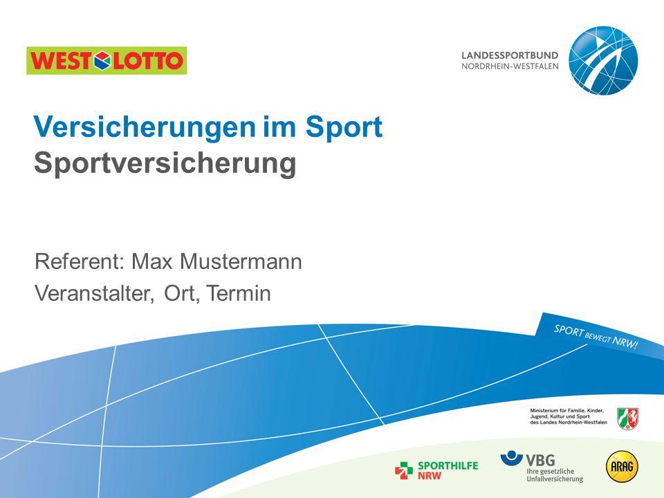 Versicherungen im Sport Sportversicherung