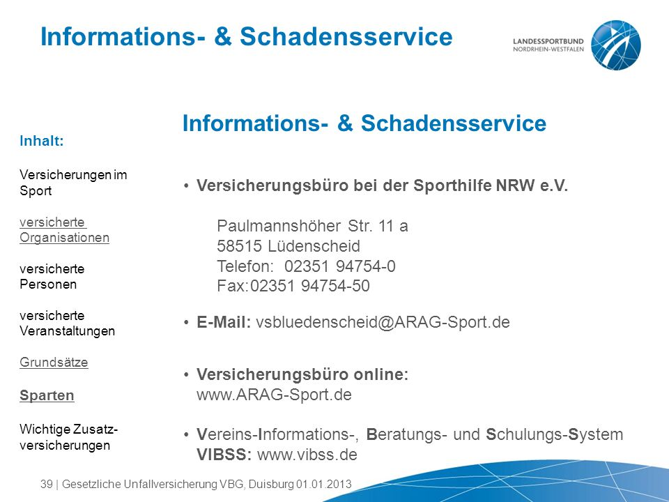 Informations- & Schadensservice