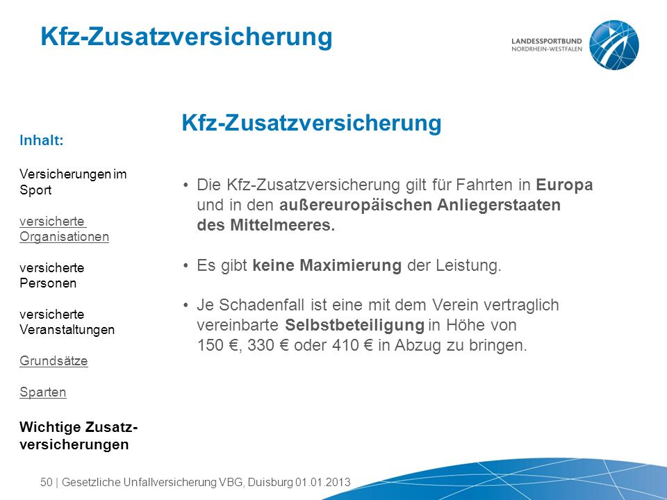 Kfz-Zusatzversicherung
