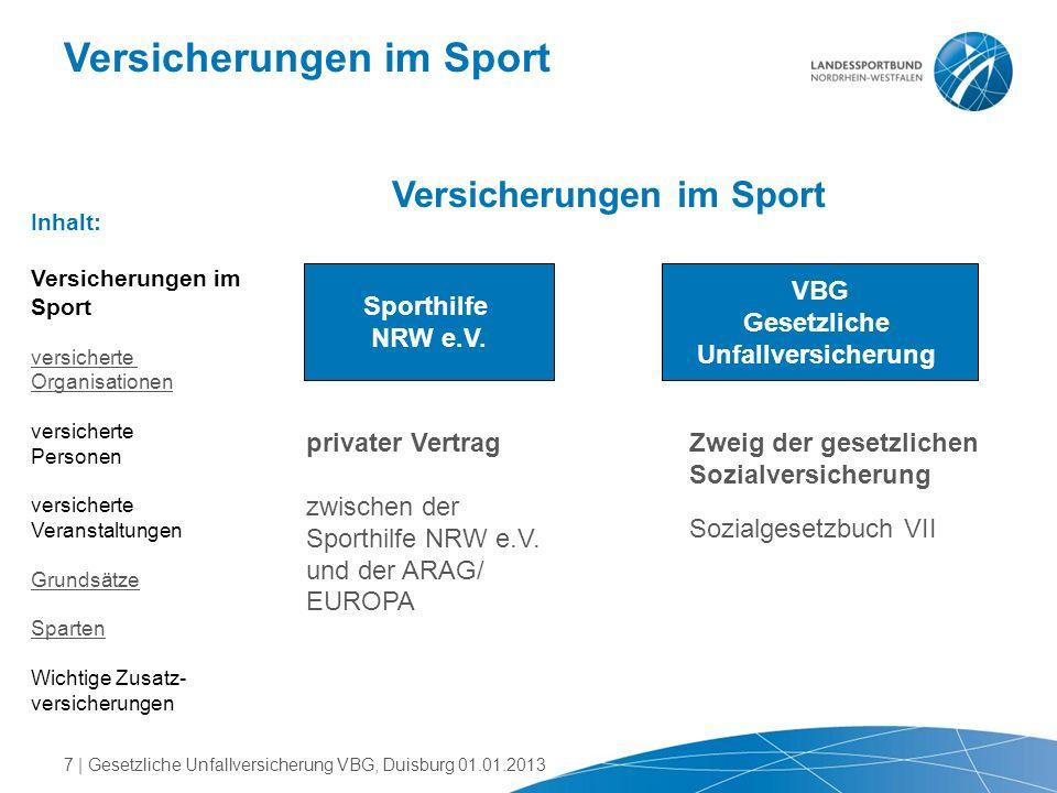 Versicherungen im Sport
