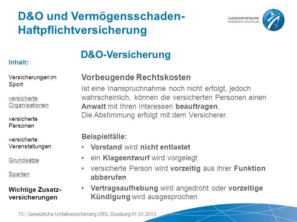 D&O und Vermögensschaden-Haftpflichtversicherung
