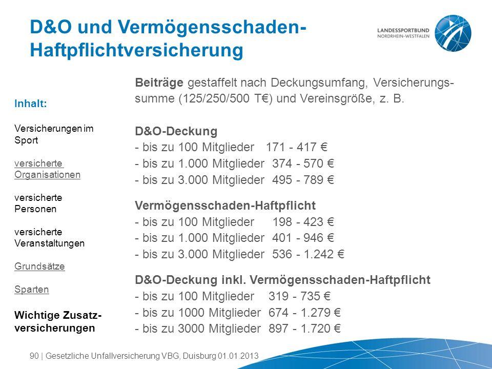 D&O und Vermögensschaden- Haftpflichtversicherung