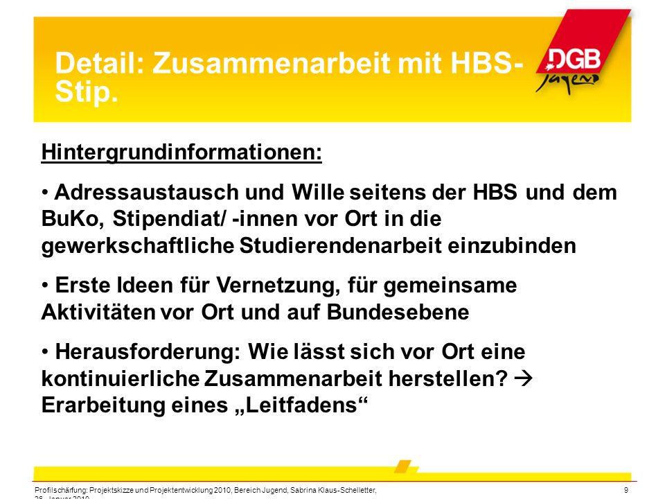Detail: Zusammenarbeit mit HBS-Stip.