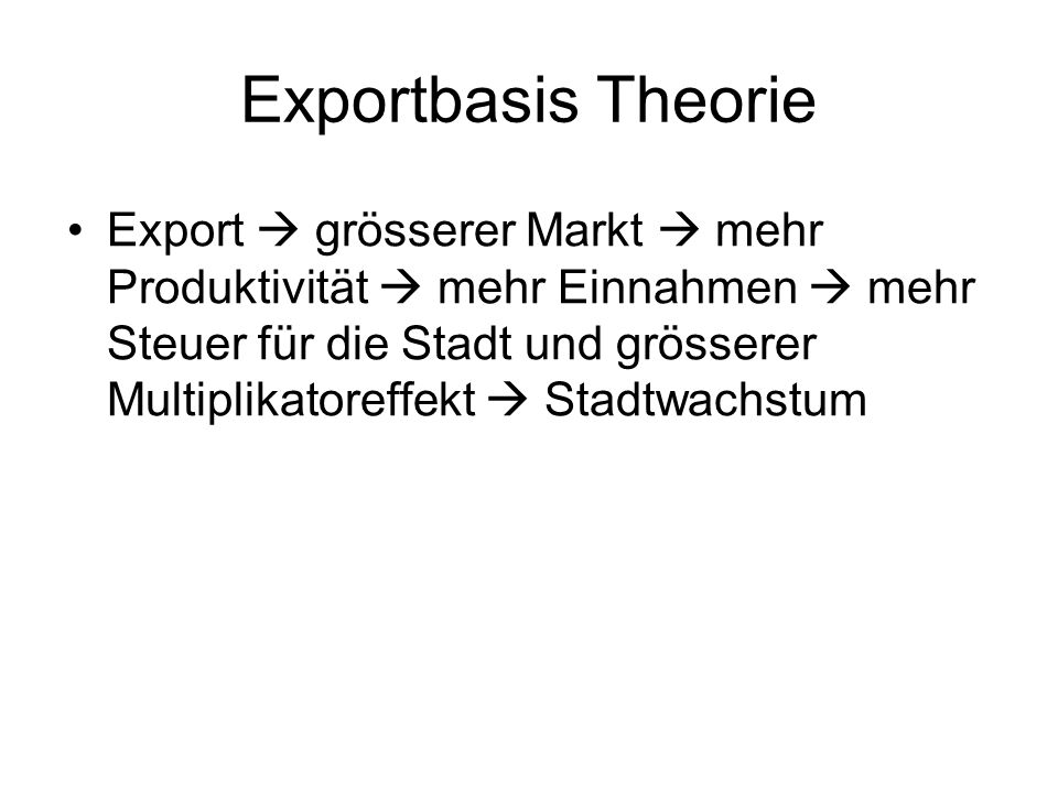 Exportbasis Theorie