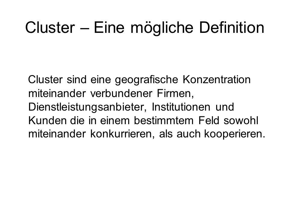 Cluster – Eine mögliche Definition