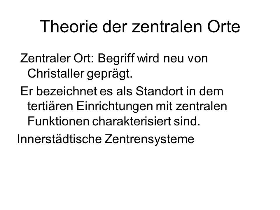 Theorie der zentralen Orte