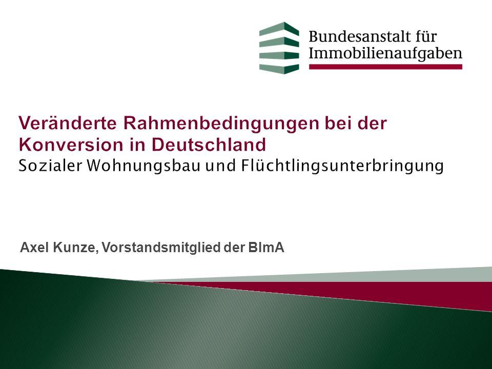 Axel Kunze, Vorstandsmitglied der BImA