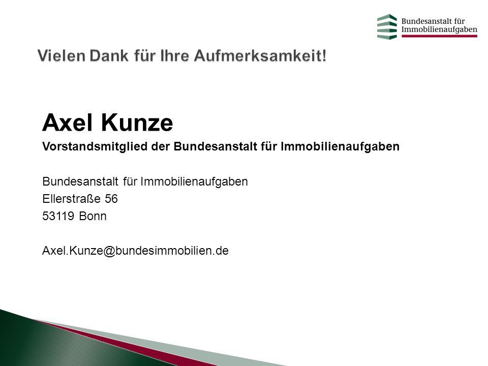 Axel Kunze Vielen Dank für Ihre Aufmerksamkeit!