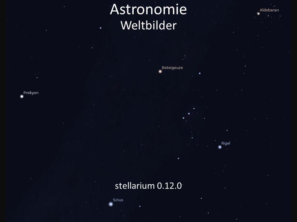 Astronomie Weltbilder stellarium 0.12.0