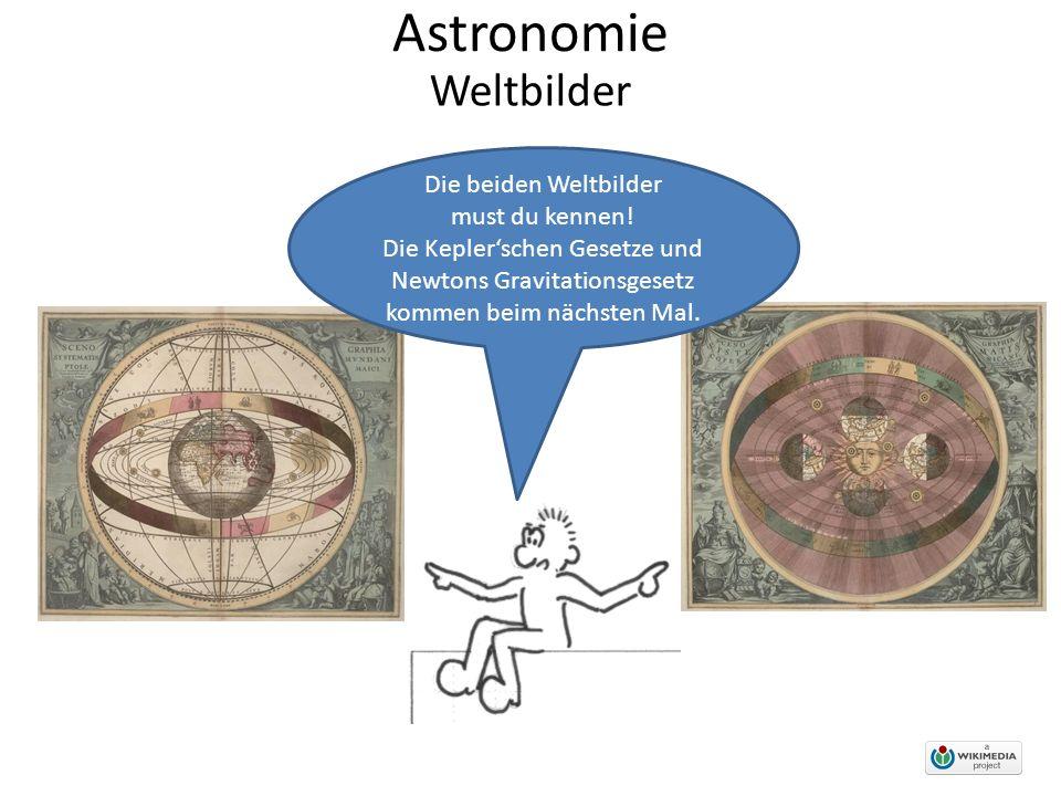 Astronomie Weltbilder Die beiden Weltbilder must du kennen!