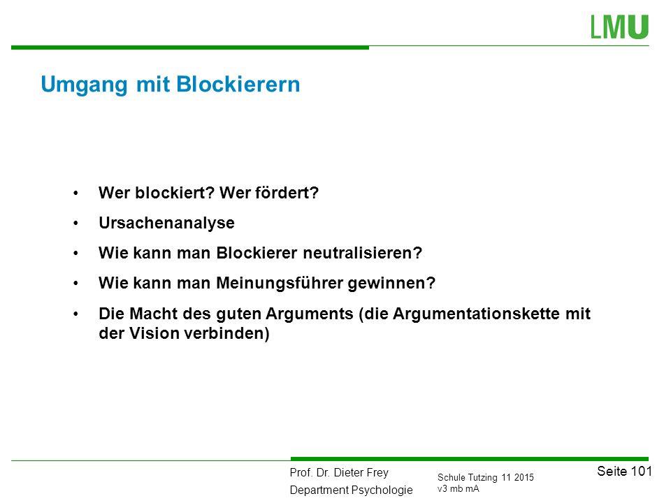 Umgang mit Blockierern