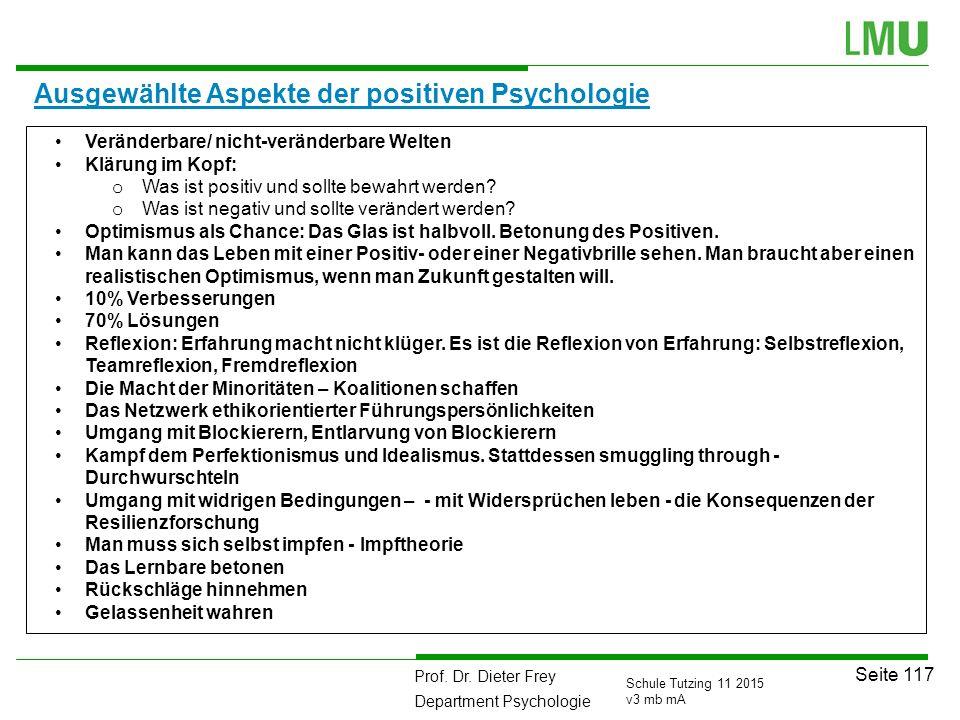 Ausgewählte Aspekte der positiven Psychologie