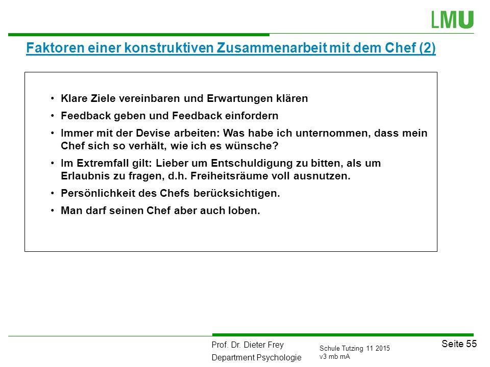 Faktoren einer konstruktiven Zusammenarbeit mit dem Chef (2)