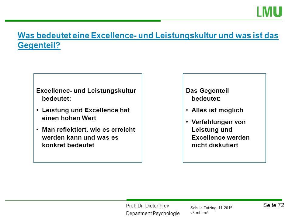 Was bedeutet eine Excellence- und Leistungskultur und was ist das Gegenteil