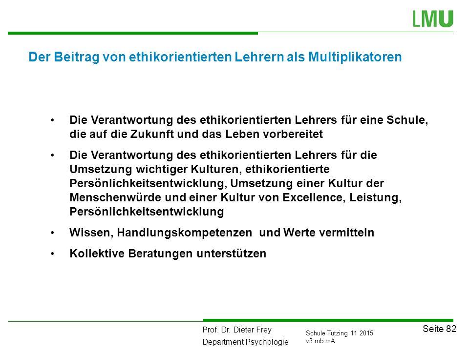 Der Beitrag von ethikorientierten Lehrern als Multiplikatoren