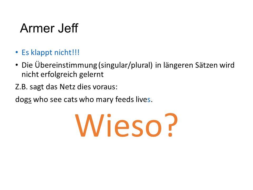 Wieso Armer Jeff Es klappt nicht!!!