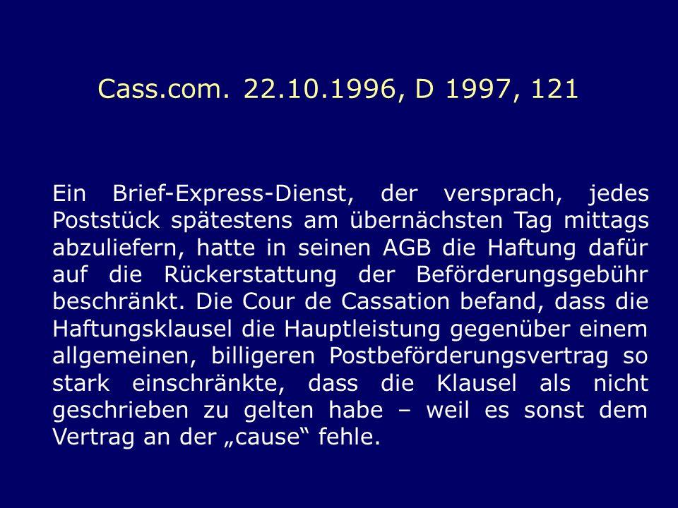 Cass.com. 22.10.1996, D 1997, 121