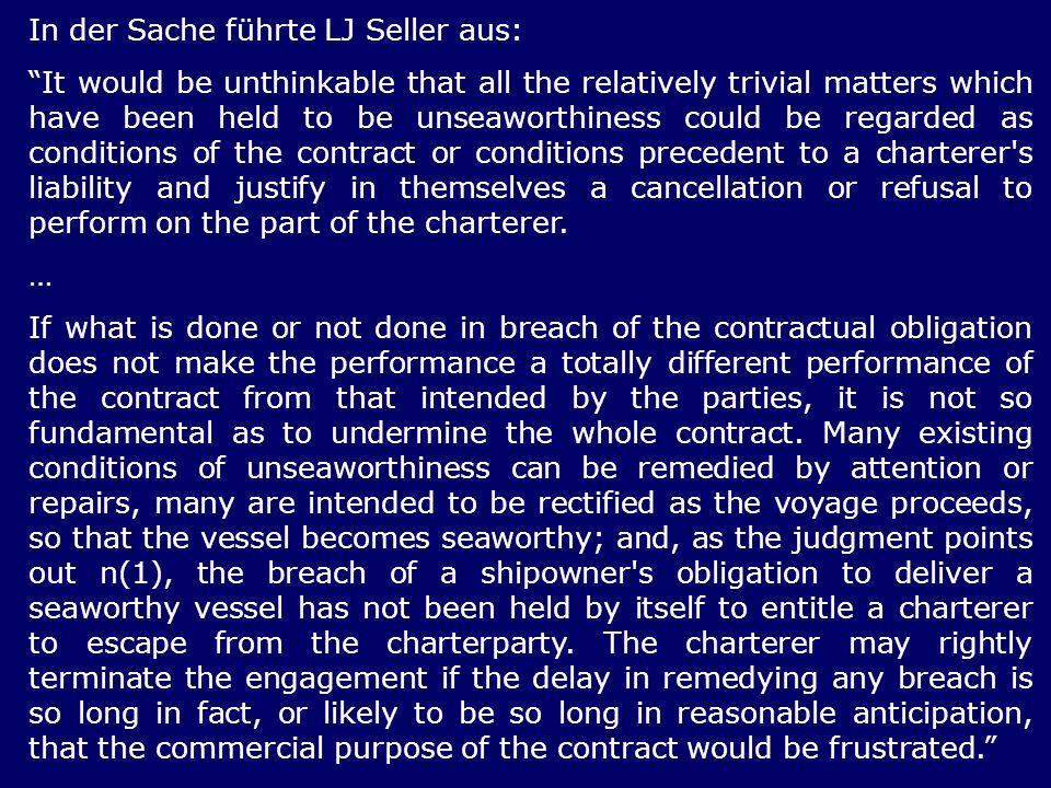 In der Sache führte LJ Seller aus: