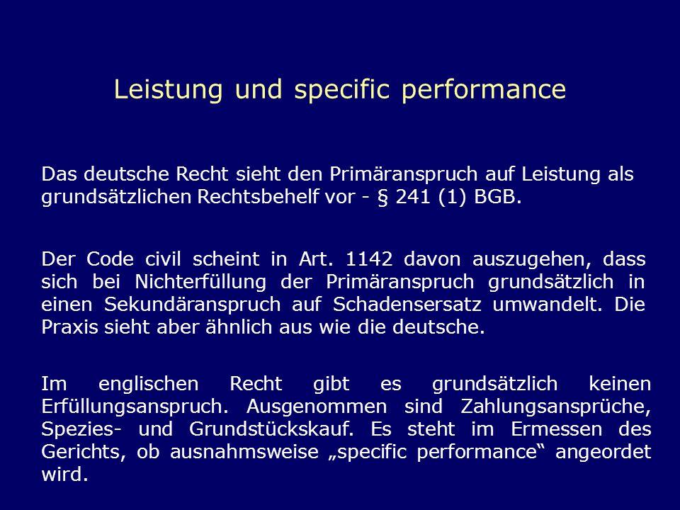 Leistung und specific performance