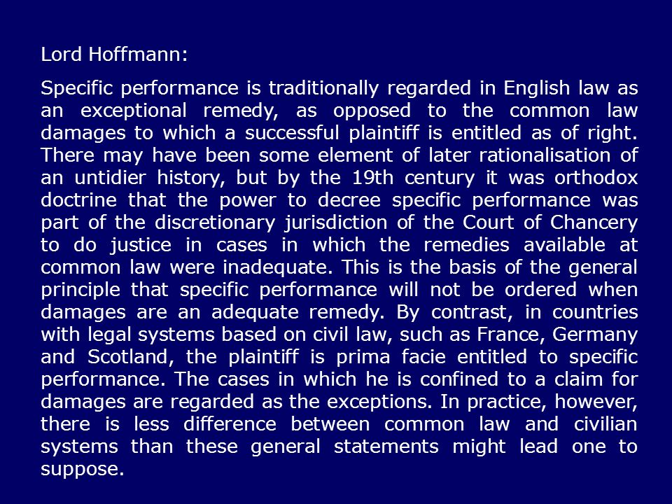 Lord Hoffmann: