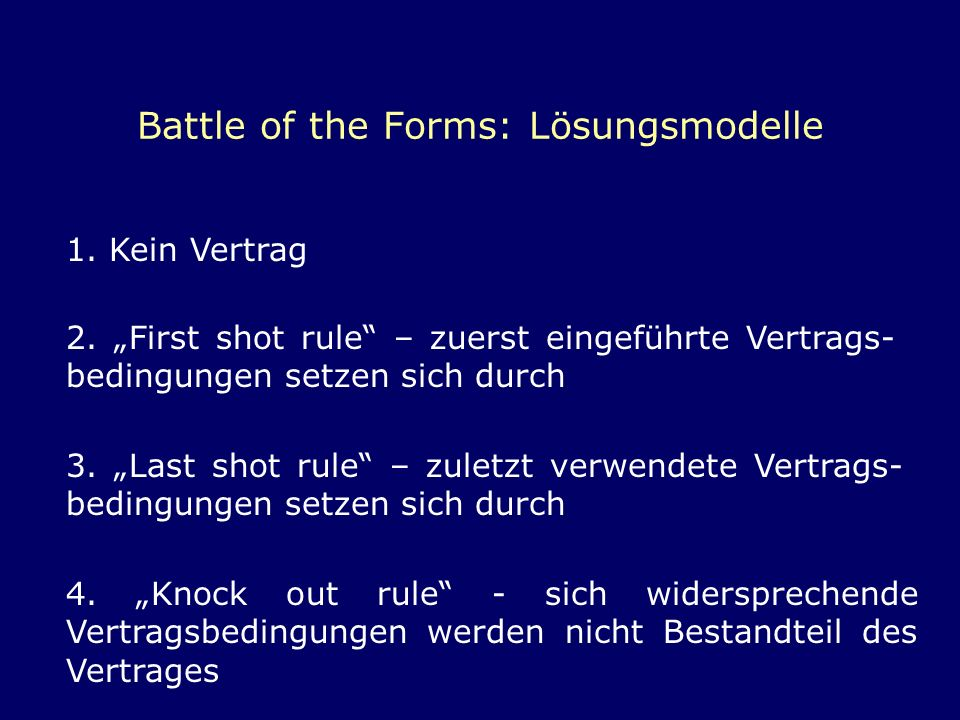 Battle of the Forms: Lösungsmodelle