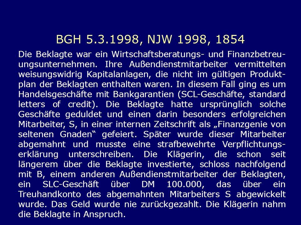 BGH 5.3.1998, NJW 1998, 1854