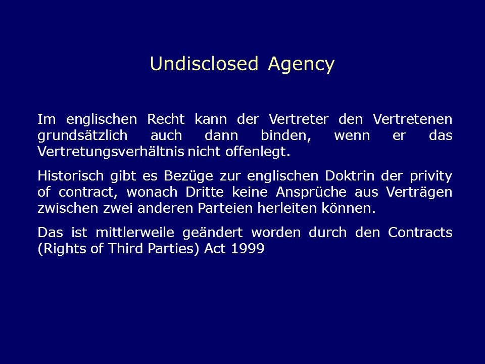 Undisclosed Agency