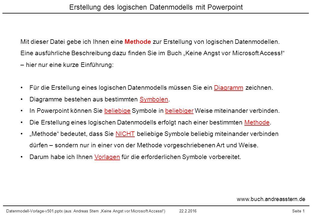 Erstellung des logischen Datenmodells mit Powerpoint