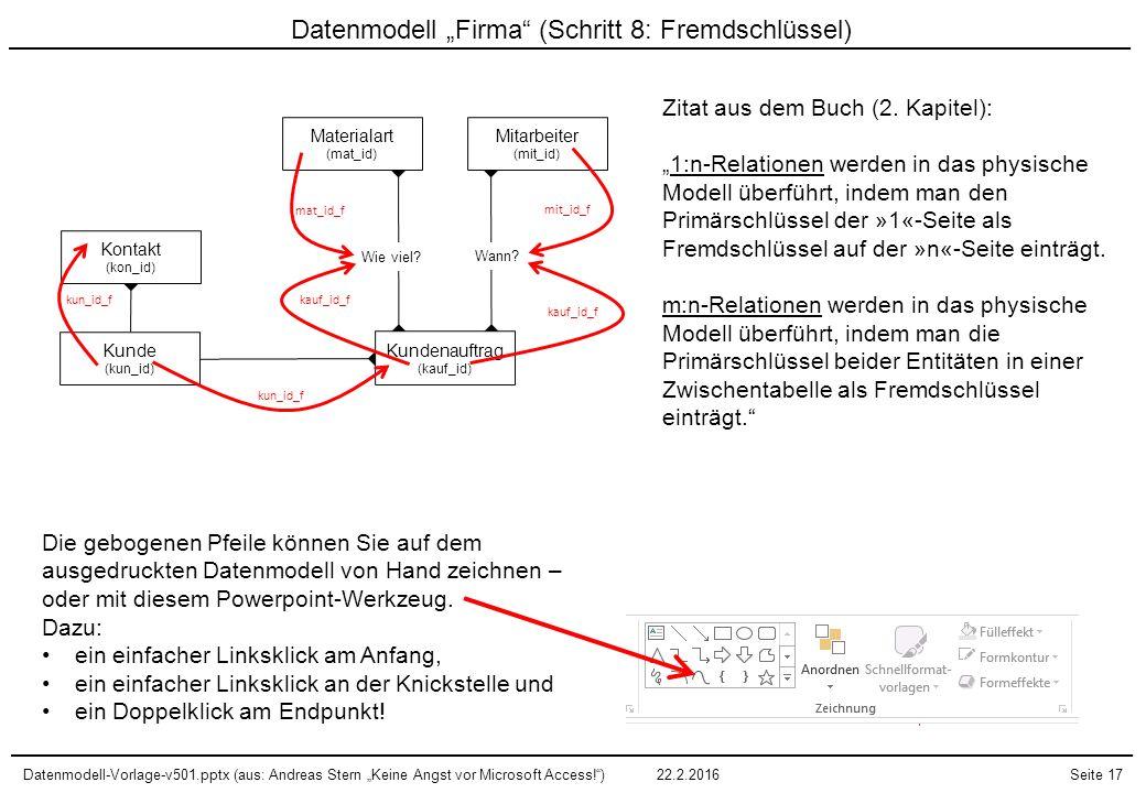 "Datenmodell ""Firma (Schritt 8: Fremdschlüssel)"